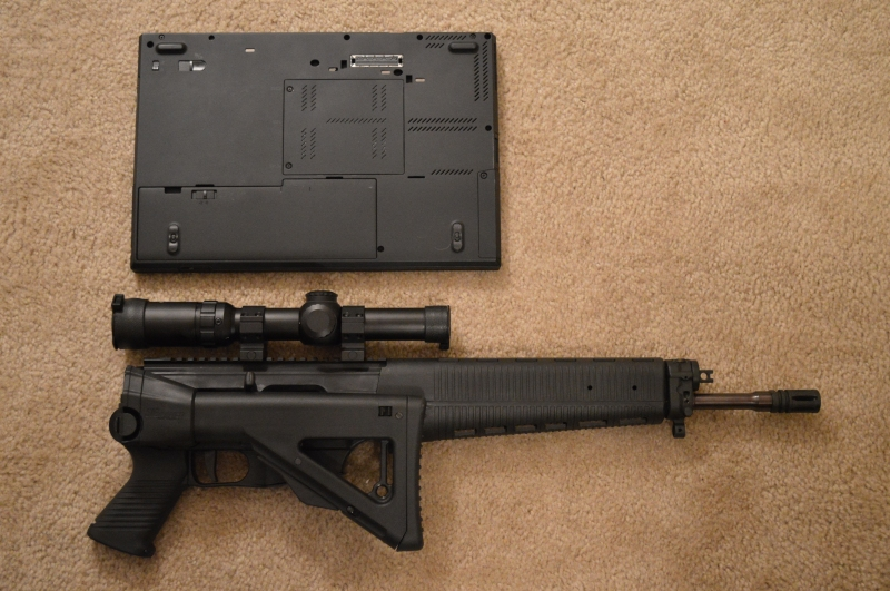 "SIG 522 with 14"" laptop"
