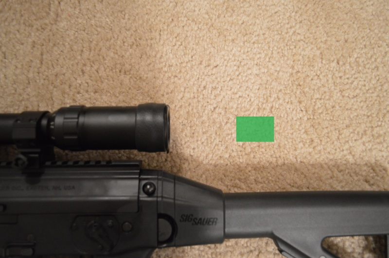 Approximate usable eye box for the Primary Arms PA14X