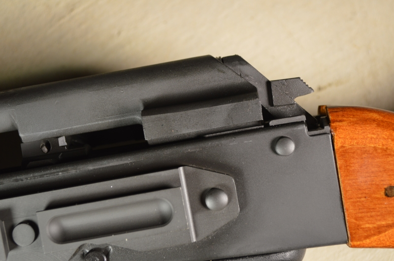 Without the recoil buffer, the bolt carrier jumps the receiver rails.